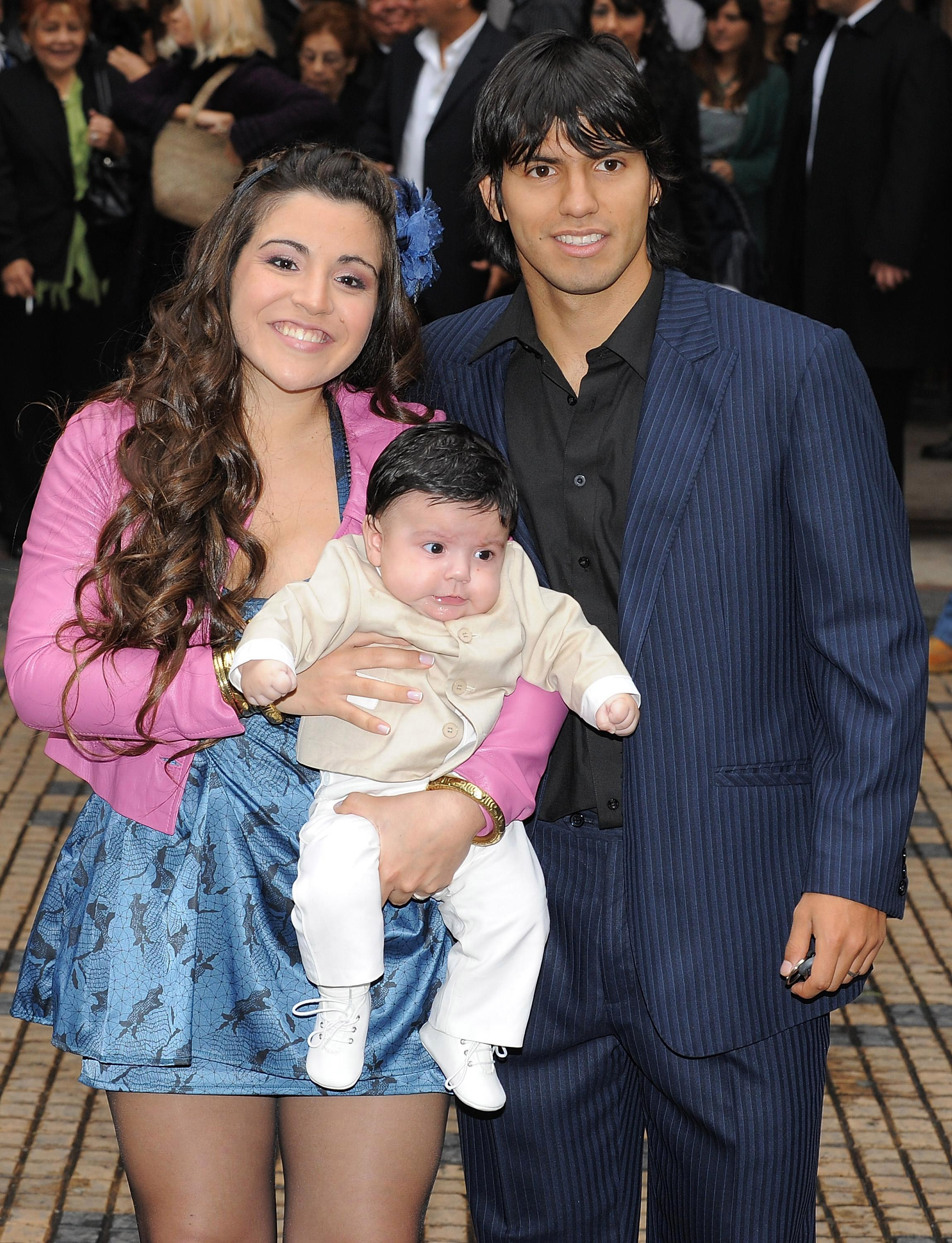 Aguero has a child, Benjamin, with his first wife Giannina